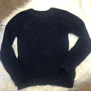 Gap Kids | Thick Knit Navy & Silver Sweater